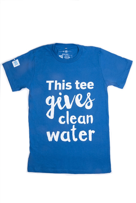 WE Give Clean Water T-Shirt - Cyan