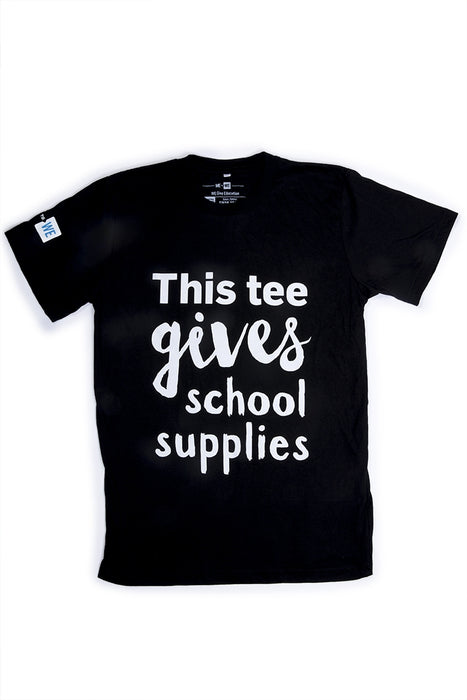 WE Give School Supplies T-Shirt - Black