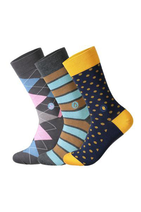 Conscious Step - Set of Three Pairs of Socks