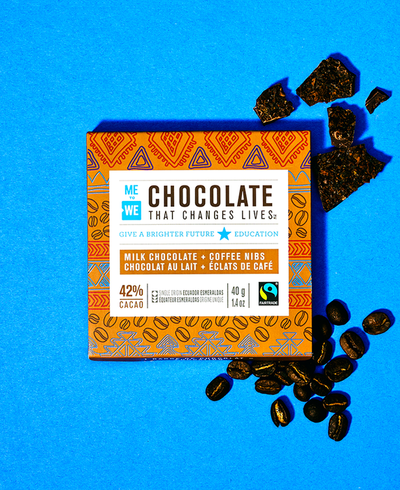 Milk + Coffee Nibs - ME to WE Chocolate That Changes Lives™
