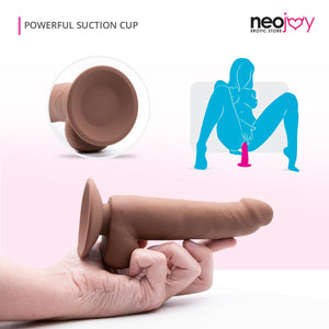 Neojoy - Real-Feel Silikon Dong (Braun) - lucidtoys.de Dildos