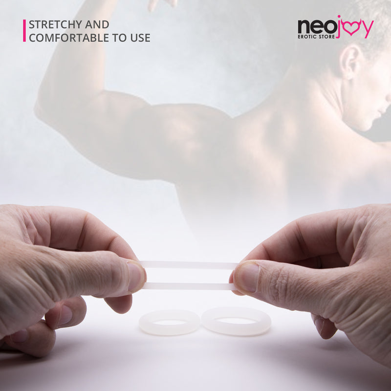 Neojoy Set of 3 Cock Rings - Flexible Penis Rings Enhanced Erection - Large Size