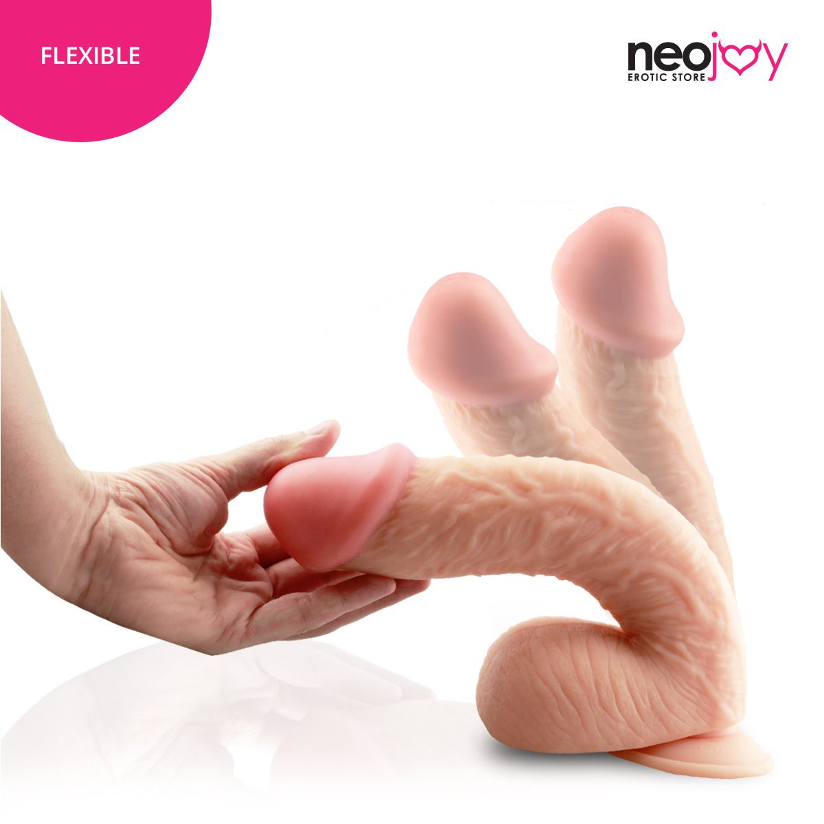 Neojoy Dong Realistic Dildo With Suction Cup - Flesh 11.8 inch - 29.97 cm 150274+154125