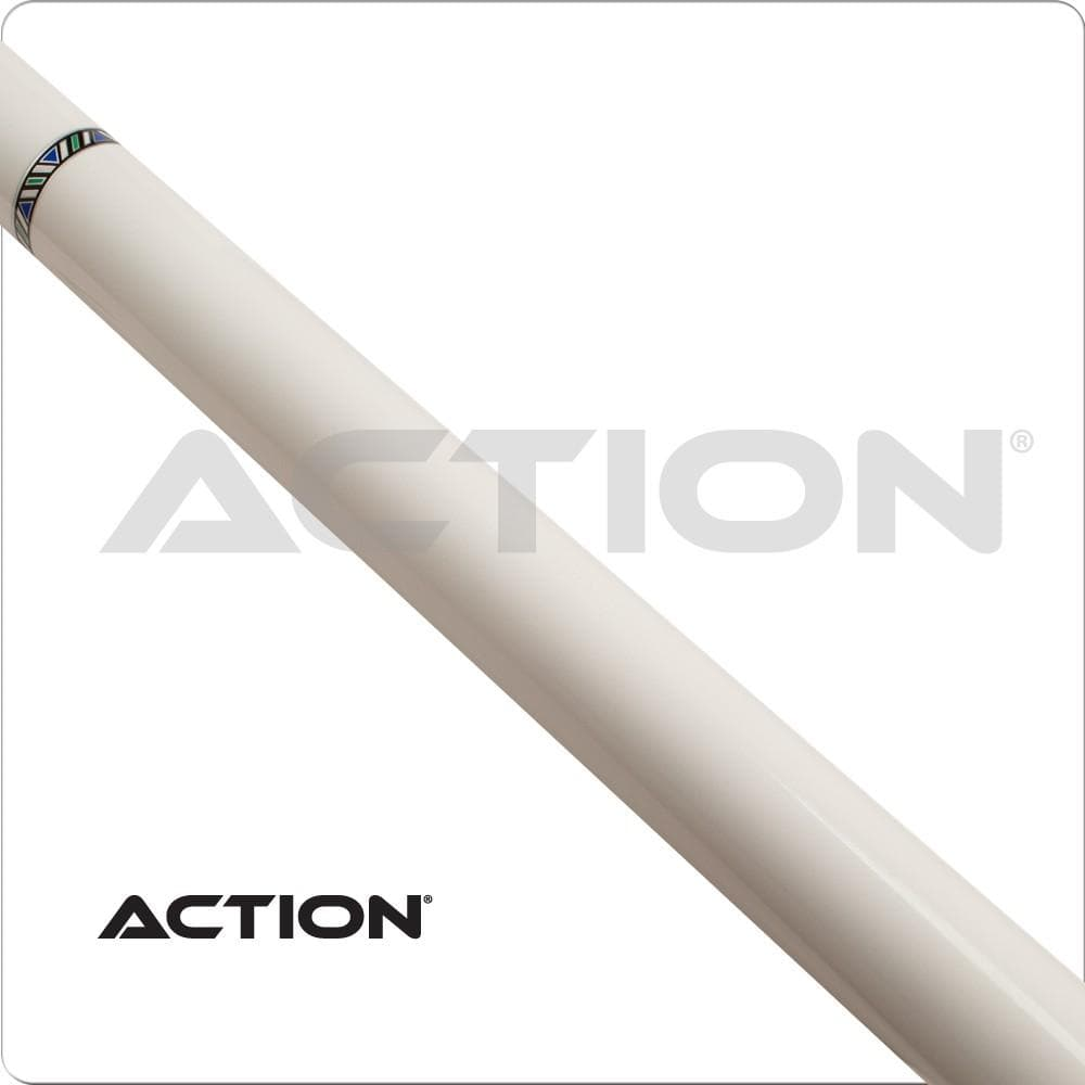 Action VAL28 Value White Pool Cue with FREE Shipping
