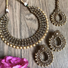 Load image into Gallery viewer, SANAIYA CHAMPAGNE GOLD NECKLACE SET