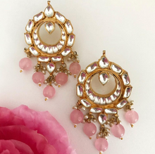 Load image into Gallery viewer, SIMI PAACHI KUNDAN EARRINGS