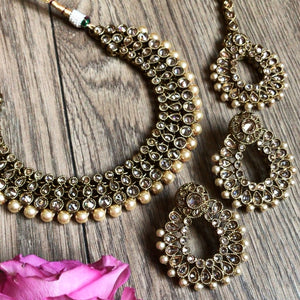 SANAIYA CHAMPAGNE GOLD NECKLACE SET
