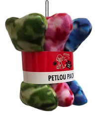"Petlou 8"" Camo Print Fleece Bones 3 Pack Dog Toys"