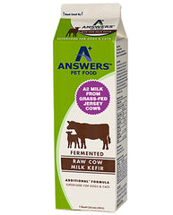 Answers Pet Food Fermented Raw Cow Milk Kefir for Dogs & Cats