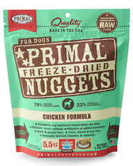 Primal Canine Freeze-Dried Chicken Nuggets