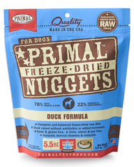 Primal Canine Freeze-Dried Duck Nuggets