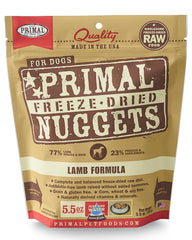Primal Canine Freeze-Dried Lamb Nuggets