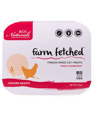 KCC Naturals Freeze-Dried Chicken Hearts Cat Treats 1oz