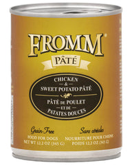 Fromm Chicken & Sweet Potato Pate Canned Dog Food 12 oz