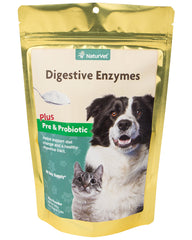 NaturVet Digestive Enzymes with Pre & Probiotics for Dogs & Cats