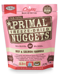 Primal Feline Freeze-Dried Beef & Salmon Nuggets
