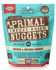 Primal Feline Freeze-Dried Chicken & Salmon Nuggets