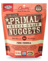 Primal Feline Freeze-Dried Pork Nuggets