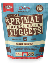 Primal Feline Freeze-Dried Rabbit Nuggets