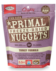 Primal Feline Freeze-Dried Turkey Nuggets