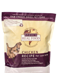 Steve's Real Food Freeze-Dried Chicken Dog & Cat Food 20oz