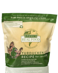 Steve's Real Food Freeze-Dried Turducken Dog & Cat Food 20oz