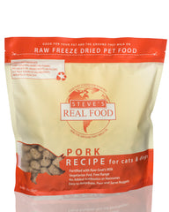 Steve's Real Food Freeze-Dried Pork Dog & Cat Food 20oz