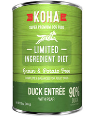 Koha Limited Ingredient Duck Entrée with Pear Wet Dog Food
