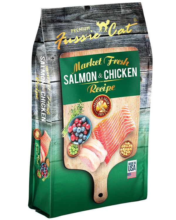 Fussie Cat Market Fresh Salmon & Chicken Dry Cat Food