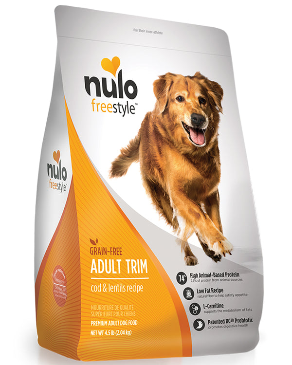 Nulo Freestyle Adult Trim Cod & Lentils  Grain-Free Dry Dog Food