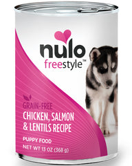 Nulo Puppy Chicken, Salmon & Lentils 13oz Grain-Free Paté Canned