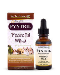 Amber Naturalz Peaceful Mind Pyntril Supplement for Dogs & Cats