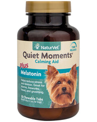 NaturVet Quiet Moments Calming Aid Melatonin Chewable Tabs for Dogs