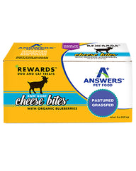 Answers Pet Food Raw Goat Cheese with Organic Blueberries 8oz