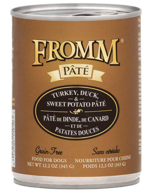 Fromm Turkey, Duck & Sweet Potato Pate Canned Dog Food 12 oz
