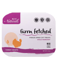 KCC Naturals Freeze-Dried Turkey Hearts Cat Treats 1oz