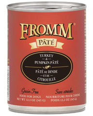 Fromm Turkey & Pumpkin Pate Canned Dog Food 12 oz