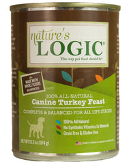 Nature's Logic Canine Turkey Feast Canned Dog Food 13.2 oz