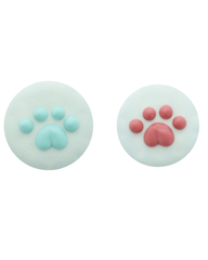 Bosco and Roxy's Circle Paw Print Dog Cookie 2""