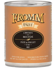 Fromm Chicken & Rice Pate Canned Dog Food 12 oz