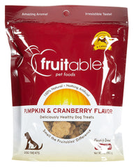 Fruitables Dog Treats Pumpkin & Cranberry 7oz