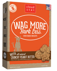 Wag More Bark Less Dog Biscuits : Crunchy Peanut Butter