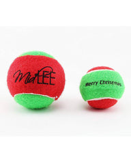 Midlee Holiday Tennis Ball Dog Toy