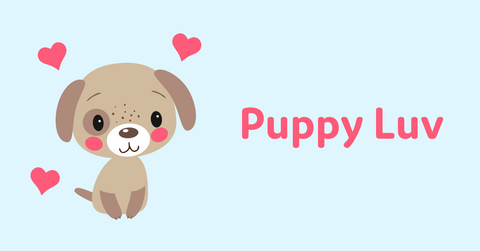 Animal Valentine's Day cards with puppy
