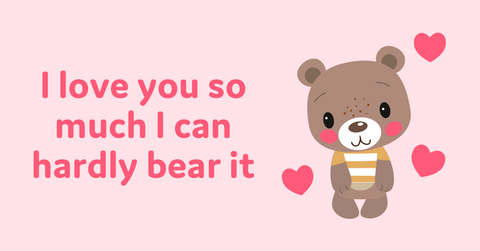 Animal Valentine's Day cards with bear