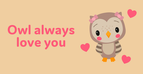 Animal Valentine's Day cards with owl