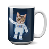 Custom 15oz Mug - Astronaut Face Replace (Cat)