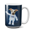 Custom 15oz Mug - Astronaut Face Replace (Dog)