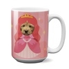 Custom 15oz Mug - Princess Face Replace (Dog)