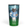 Custom Cat Football Face Tumbler